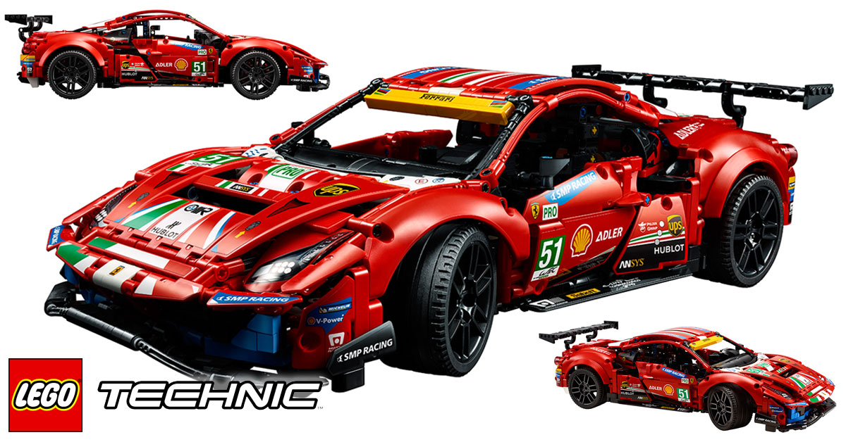 Brickfinder Lego Technic Ferrari 488 Gte 41425 Officially Announced